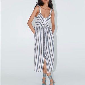 Zara stripe dress Xs
